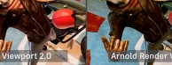 maya2019升级特色-更快的视图,更贴近arnold的预渲染