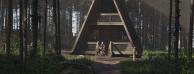 15分钟制作一个林中小屋场景