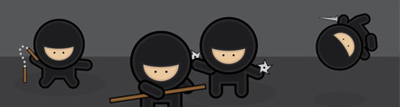 0049_Create_a_Gang_of_Vector_Ninjas_Banner