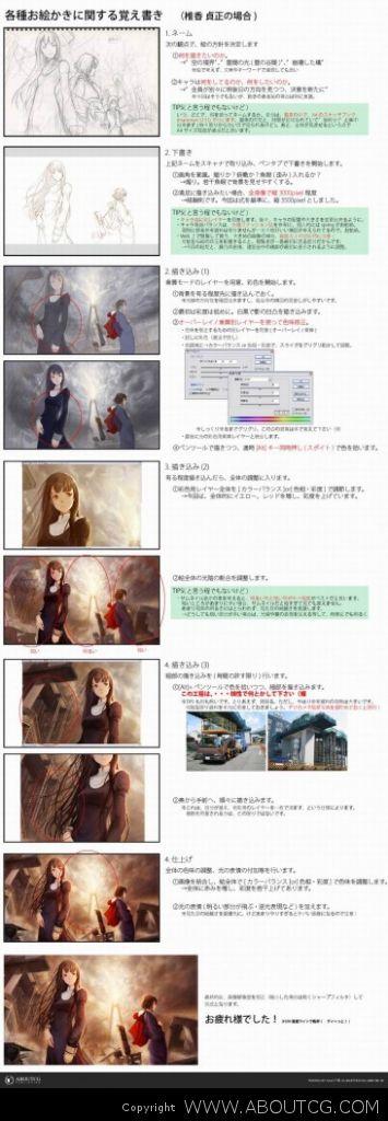 ABOUTCG CG共和国 日本漫画绘制 教学