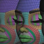 卡通风格头部模型建模布线演示教学