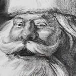 圣诞老人头像绘制