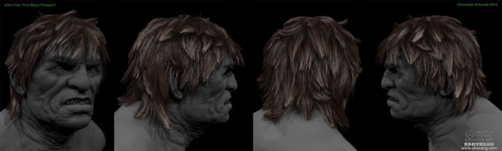 使用maya的xGen功能创建角色毛发效果| ABOUTCG资讯速递