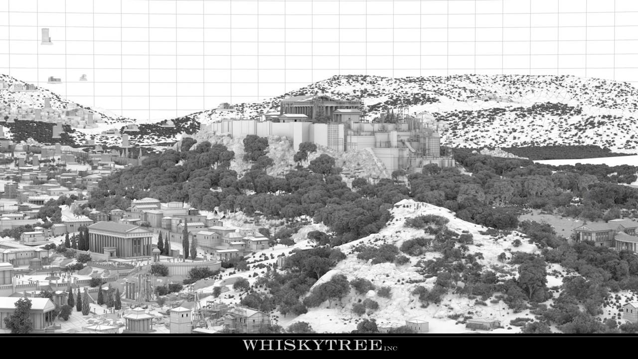 WHISKYTREE inc的大型CG场景制作解析演示