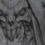 zbrush超酷怪兽头像雕刻演示教学