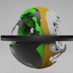 Cinema4D 和 Realflow 结合使用视频教学mix diferent colors