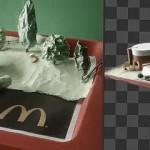 麦当劳定格纸片广告动画以及制作过程短片