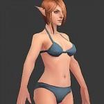 网游角色制作实战教学 女精灵-身体皮肤贴图绘制