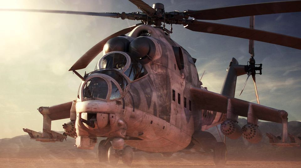 """max制作米-24""""雌鹿""""武装直升机简易教学"""