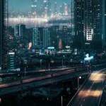 matte painting绘制过程演示 A Futuristic City