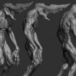 ZBRUSH 高精度怪物角色雕刻视频教学第一集
