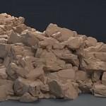 使用ZBrush和maya制作逼真的石头和粘土效果