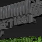 ZBrush4r7功能演示-制作突击步枪多边形建模