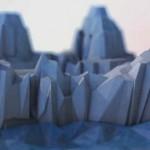 Cinema 4D案例教学-多边形风格的冰川和山