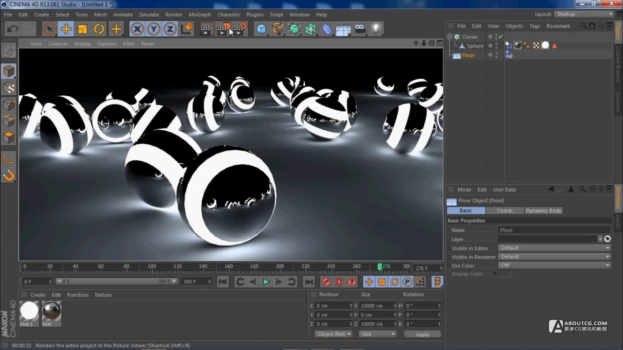 Cinema 4D Beginners Tutorial Light Balls.mp4_20150626_103331.923