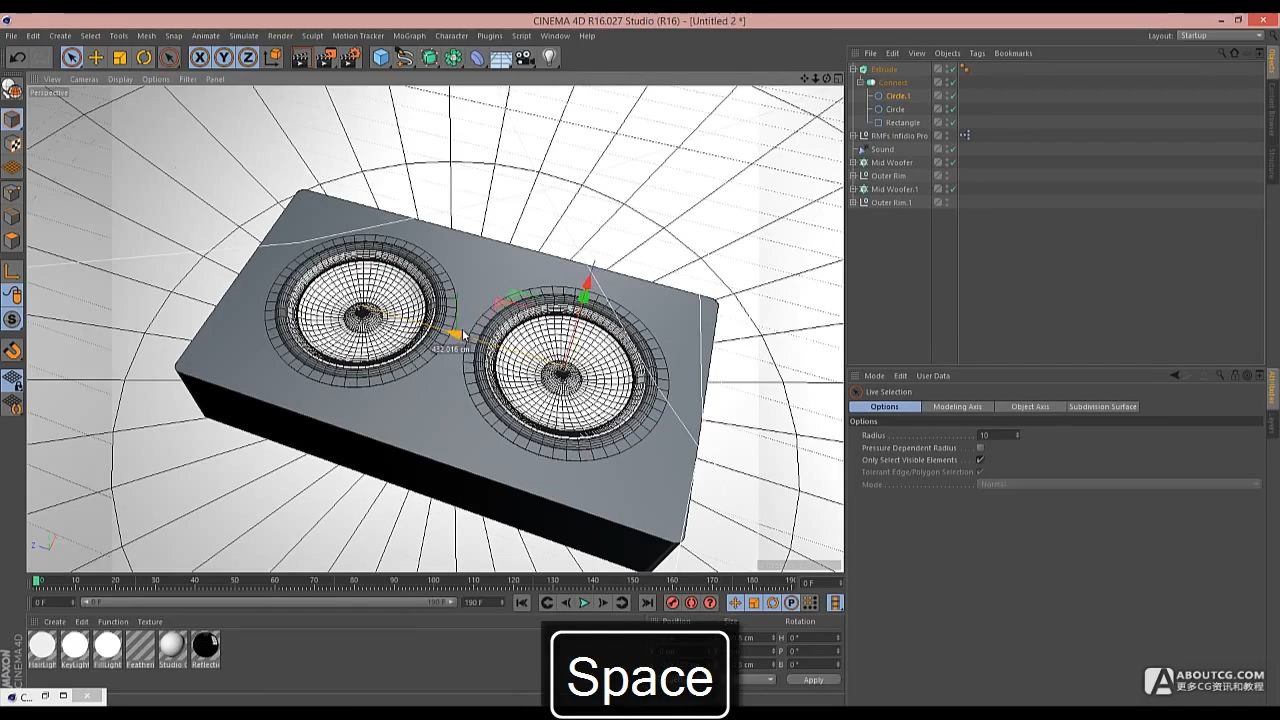 Cinema 4D Tutorial - Build a Speaker with a Sound Effector.mp4_20150627_105137.950