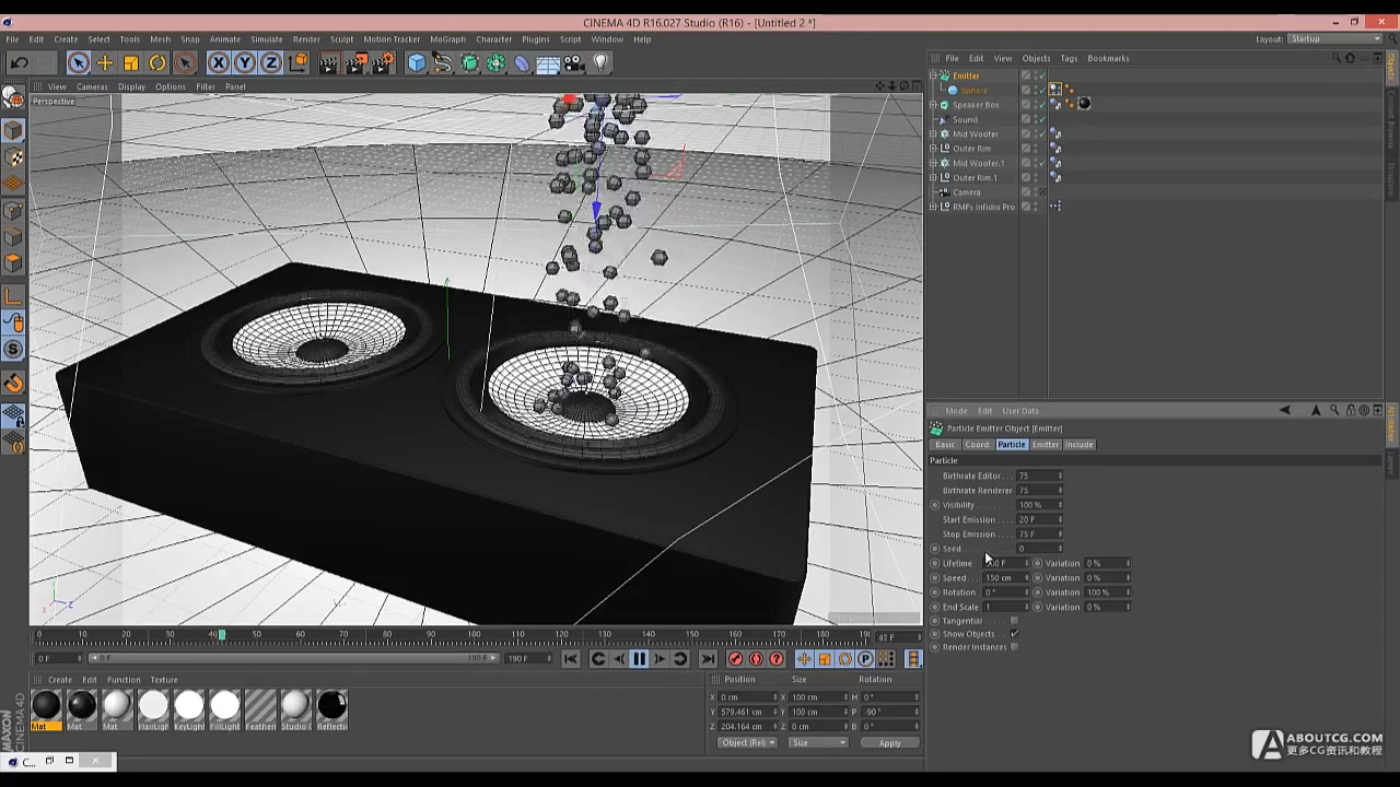 Cinema 4D Tutorial - Build a Speaker with a Sound Effector.mp4_20150627_105155.030
