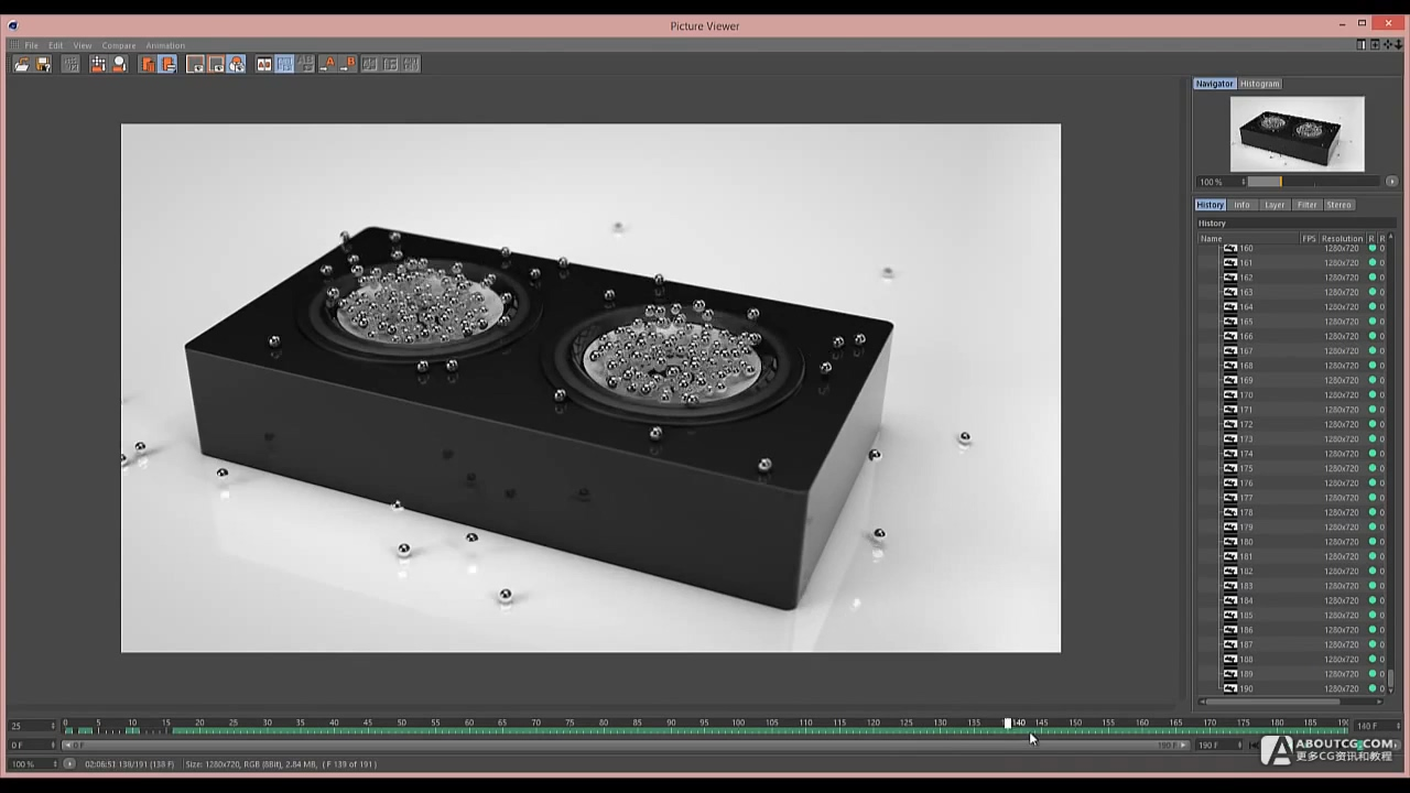 Cinema 4D Tutorial - Build a Speaker with a Sound Effector.mp4_20150627_105206.185
