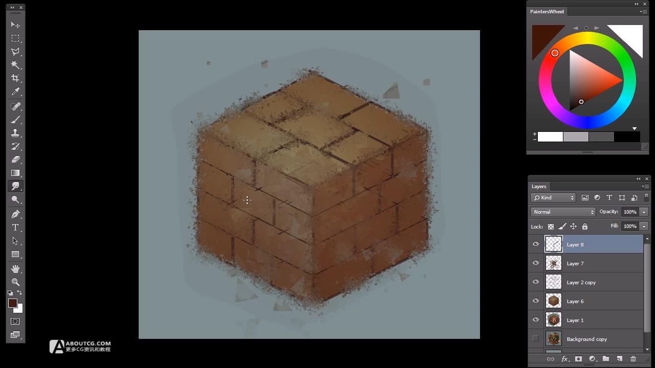 Fan Art #5 - by Sephiroth Art - Isometric Mario Brick Cube.mp4_20150617_202457.765