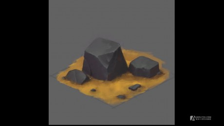 How to Draw for Games #12 - Isometric Stone.mp4_20150611_170921.459