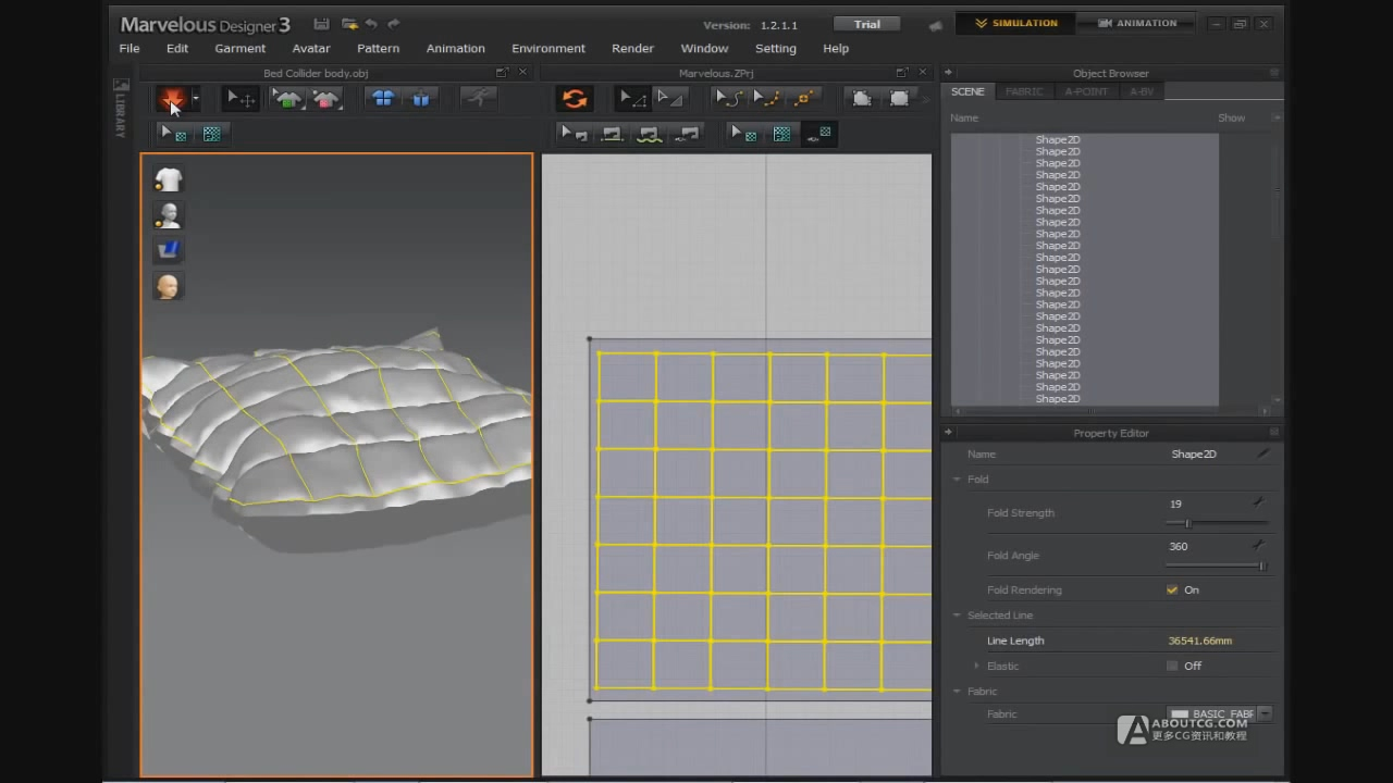 Marvelous Designer 3 Tutorial - How to make a realistic bed sheet.mp4_20150613_211326.030