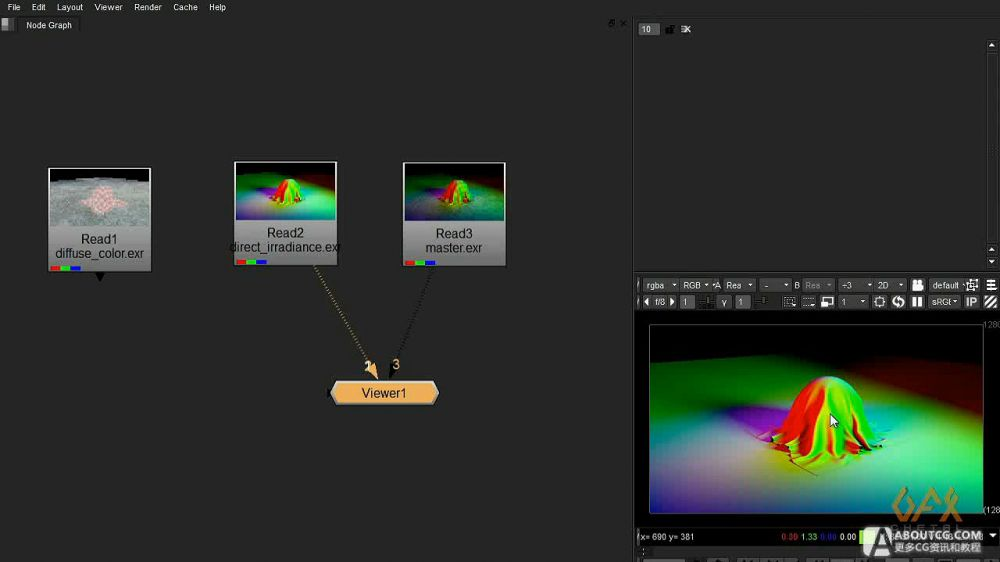 RGB Light Pass在maya和nuke中的工作流程