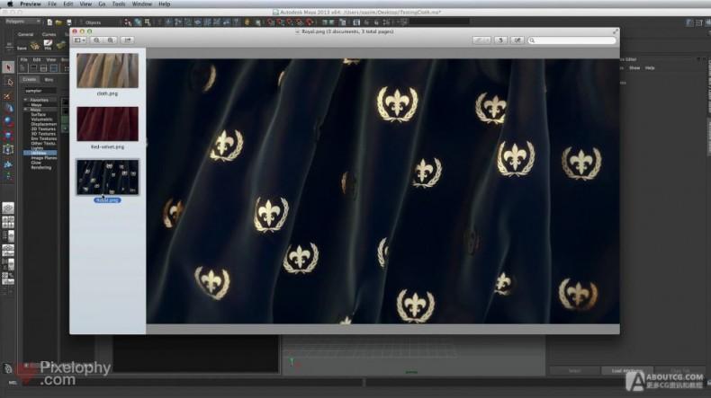 vray for maya渲染布料材质的教程