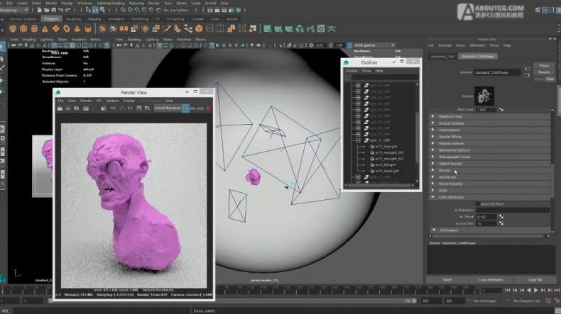 arnold渲染light studio快速设置教程