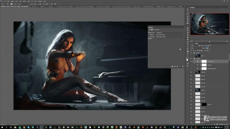 modo+photoshop机械妹子作品制作教程