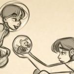 美式漫画角色草图绘制