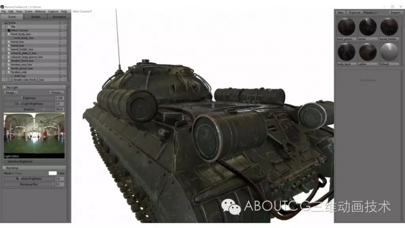 028_ABOUTCG微资讯第二十八期:制作和渲染斯IS-3重型坦克2467