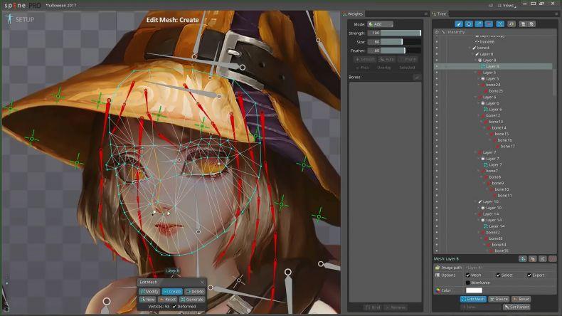 animation spine制作动态原画的流程演示