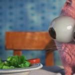 搞笑动画:一只傻猫的幸福午餐