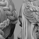 Zbrush复杂发型制作全流程演示
