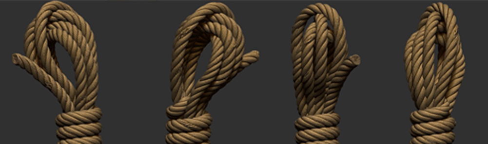Modeling-a-Rope-Bundle-with-Maya-and-zbrush