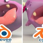 Blender 3D Eevee, SSGI, Cycles 和Redshift 渲染对比