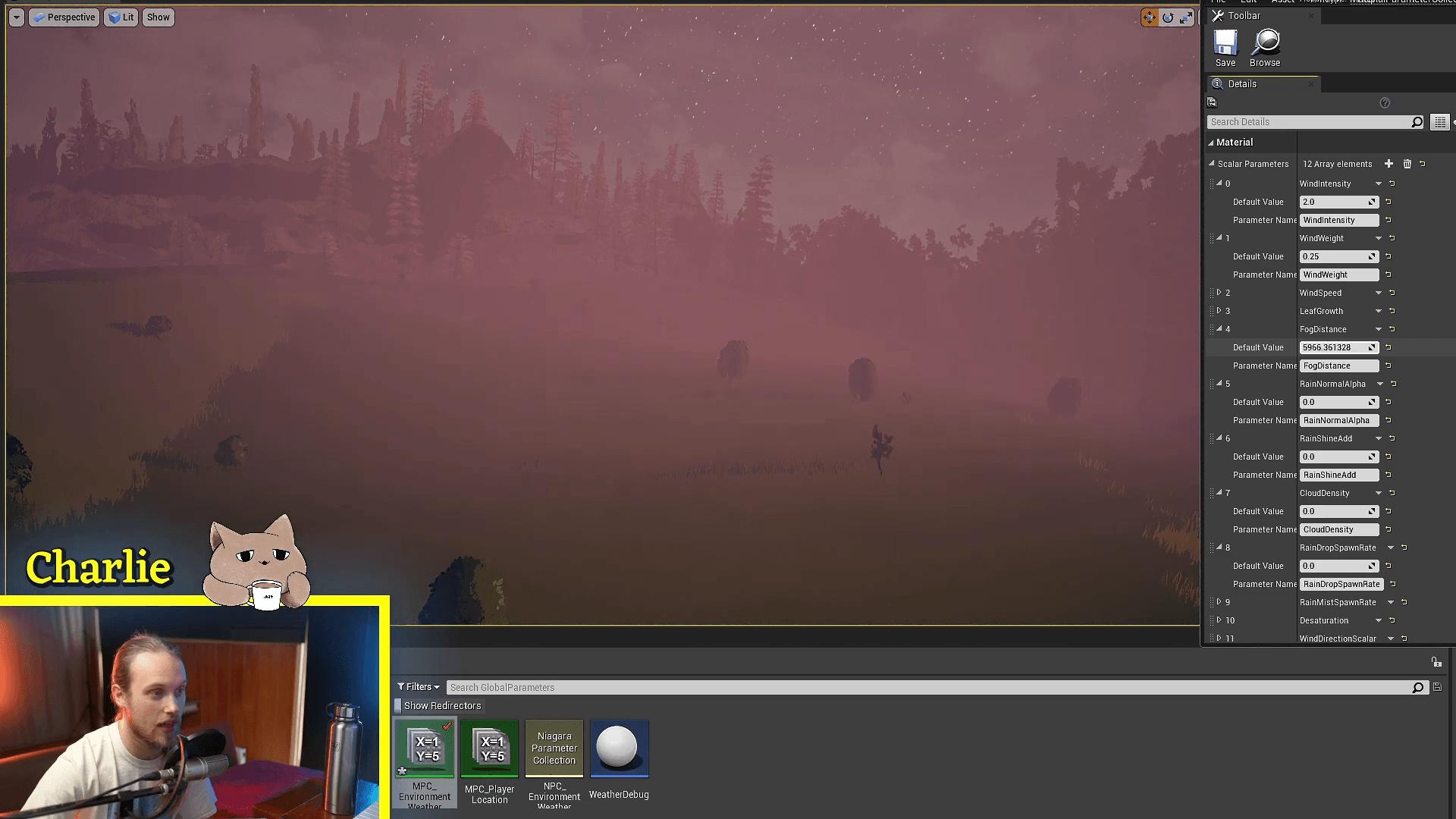 在UE4中创建一个低消耗的雾效