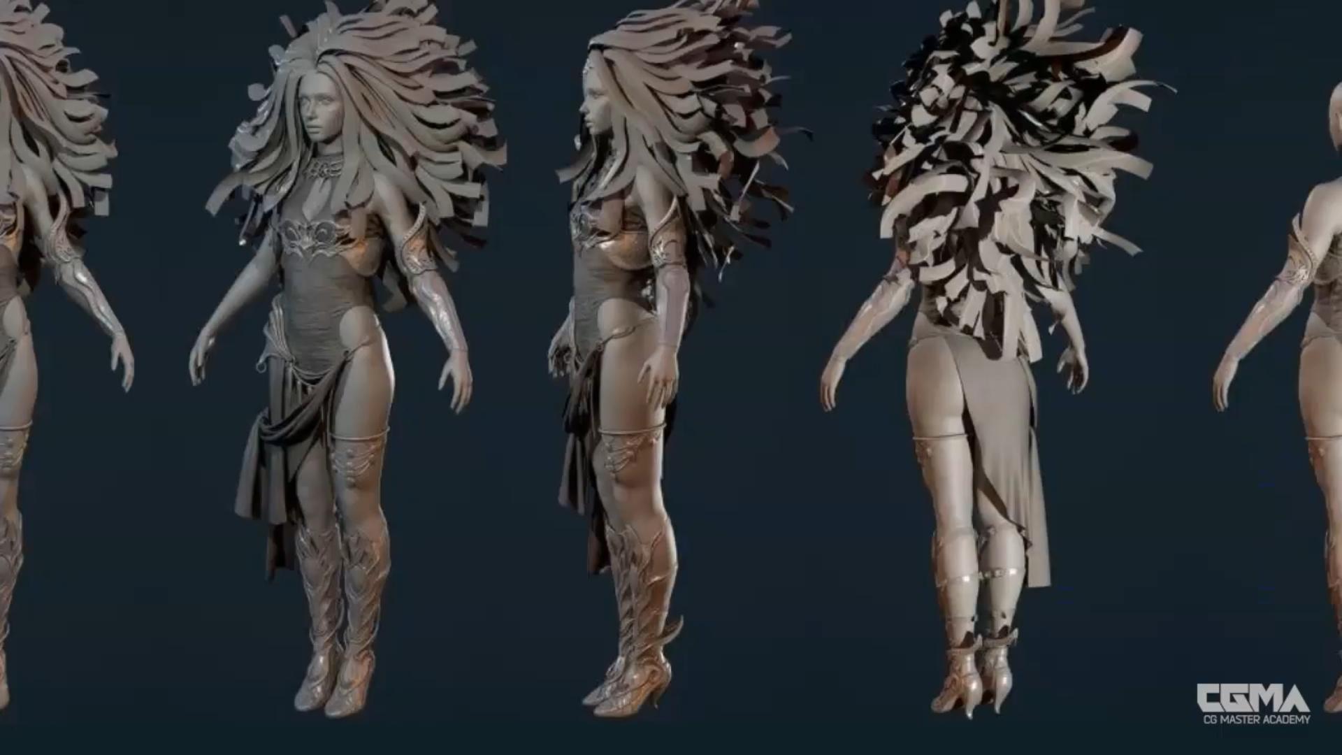 制作一个实时太阳女神模型的5个步骤